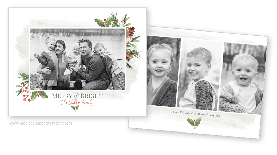 Christmas Cards with Black and White photos.
