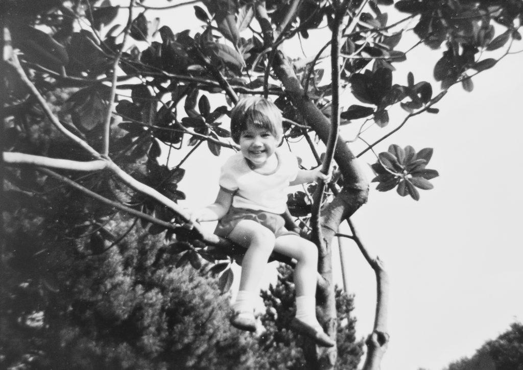 Childhood photo of Monica
